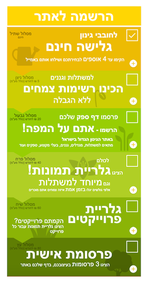 דוגמא 8.16 הרשמה לאתר